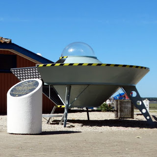 UFO landing pad in Arès