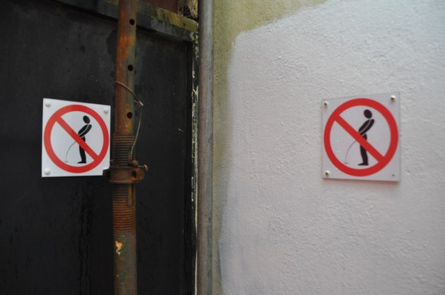 Public Urination Fine in Bordeaux