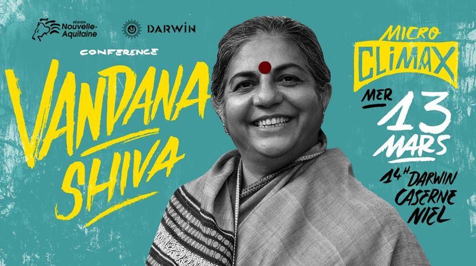 Climax FestivalVandana Shiva - Conférence Micro-CLIMAX gratuite