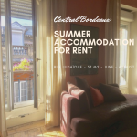 Summer Accommodation – Central Bordeaux
