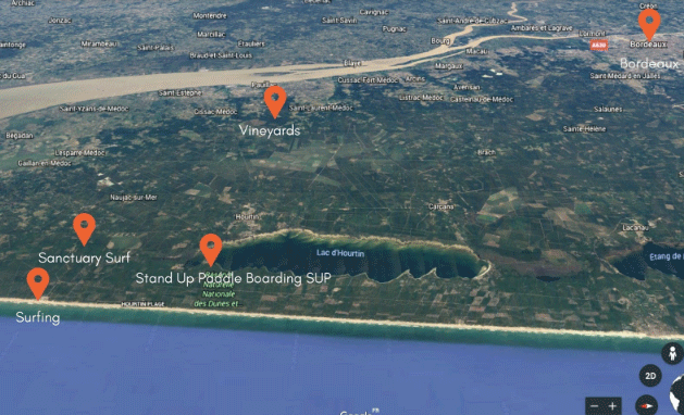 Sanctuary Surf - Map Medoc