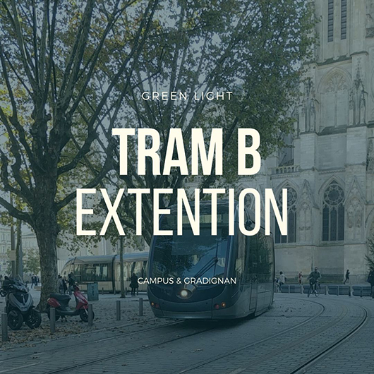 Bordeaux Tram B Line Extention